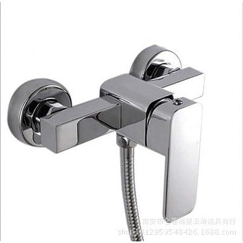 casa cocina grifo de la ducha Grifo de la bañera,Grifo ducha oculto en la pared mezclador de ducha conjunto válvula de mezcla expuesta diámetro de asiento de válvula de grifo de caliente y frío: diámetro 4CM de la tubería de entrada: