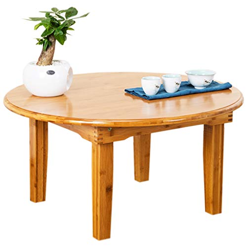 QIN PING GUO Multi-function computer desk round mobile desk portable dining table desk load 100Kg