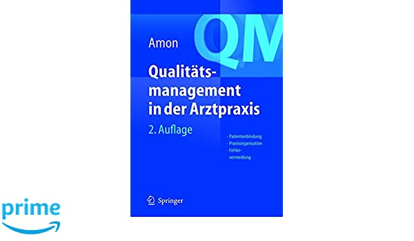 qualittsmanagement in der arztpraxis amon u