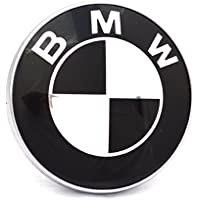 BMW-Emblem für Motorhaube und Kofferraum, schwarz-weiß, 82mm, 2-stiftiges Emblem für BMW 1, 3, 5, 7 und E46-Serie