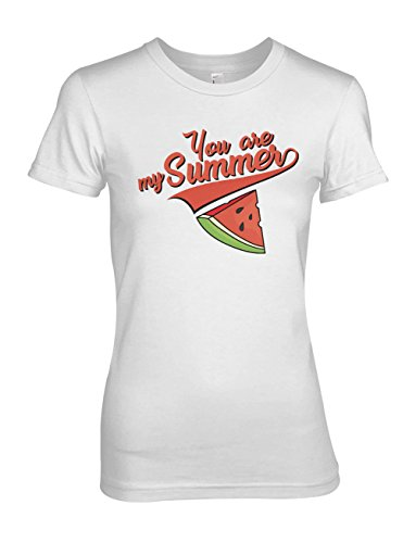 You Are My Summer Watermelon Damen T-Shirt Weiß