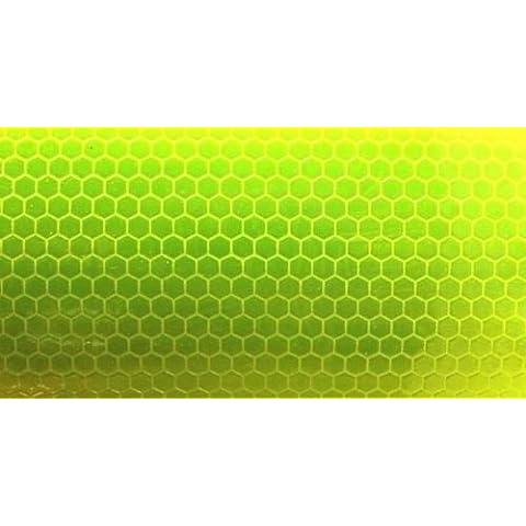 HI VIZ intensità Grade giallo riflettente nastro striscia 25mm x 100mm