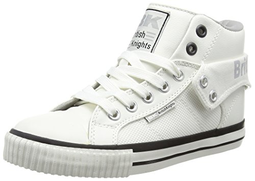 British Knights Damen Roco High-Top Weiß (White-Lt Grey 09)