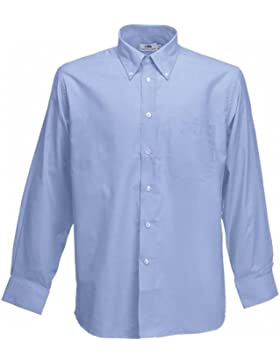 Fruit of the Loom UTBC403, Camicia Uomo, Blu (Oxford), X-Large