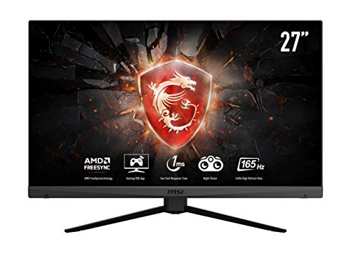 MSI Optix MAG272 - Monitor Gaming de 27' LED Full HD 165Hz (1920x1080p, Ratio 16:9, Panel VA, Freesync, Anti-Glare) Negro