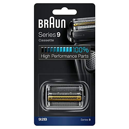 Braun 92B Ersatz-Rasierer für elektrische Rasierer Kompatibel mit den Rasierern der Serie 9, Schwarz
