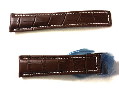24-20-mm-watch-leather-straps-brown-beige-silver-clasp-to-fit-breitling-watches