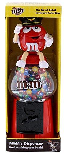 Preisvergleich Produktbild M&M's / M&M Spender / Dispenser - Flying Miss GREEN / Stewardess - Coin Bank