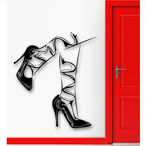 Bein-esszimmer-serie (Dalxsh Wandaufkleber Vinyl Aufkleber Beine Strümpfe Mädchen Schuhe Fashion Style 51X60Cm)