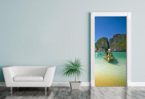 "Bilderdepot24. t24. de 11509-Adesivo ""Tropical Beach in ko Phi Phi Ley Island-Tailand, 90x 200cm, autoadesivo"