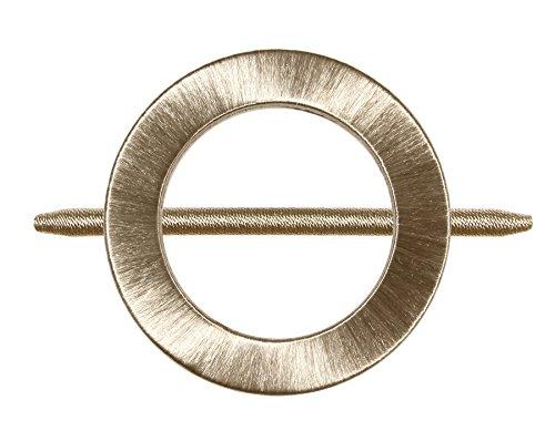 Raffhalter Gardinenspange mit Satin Faden umwickelt und Separatem Stift, Farbe Wählbar (Gold)