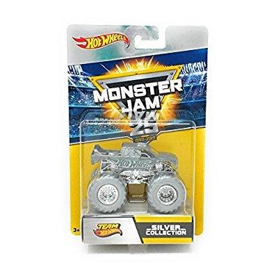 Hot Wheels Mattel fbw51Monster Jam Anniversary Silver Vehículo, por 1Coche, selección al Azar