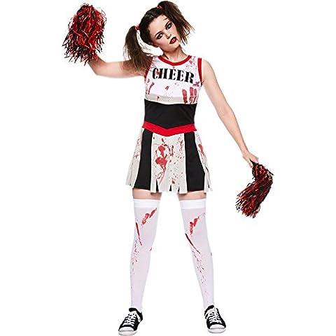 Halloween Cheerleader Costumes Adultes - Déguisement Amscan Adulte Femme Pom-Pom Girl Zombie