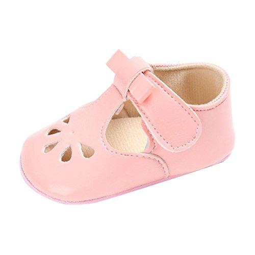 manadlian Chaussures Bébé Bébé Fille Chaussures en Cuir d'espadrille Anti-dérapant Bébé Semelle Souple