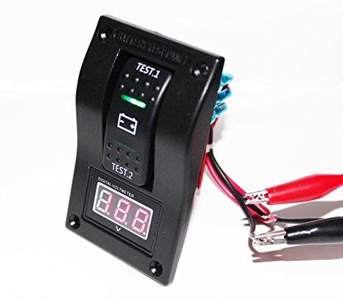 Rv Rocker Switches (bandc Volt Meter Akku Tester Panel Rocker Switch DPDT Lötösen/5–30V DC für Marine/Boot/RV)