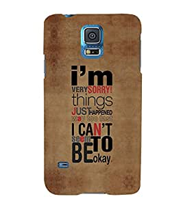 FUSON I Cant Be Okay 3D Hard Polycarbonate Designer Back Case Cover for Samsung Galaxy Grand 2 :: Samsung Galaxy Grand 2 G7105 :: Samsung Galaxy Grand 2 G7102 :: Samsung Galaxy Grand Ii