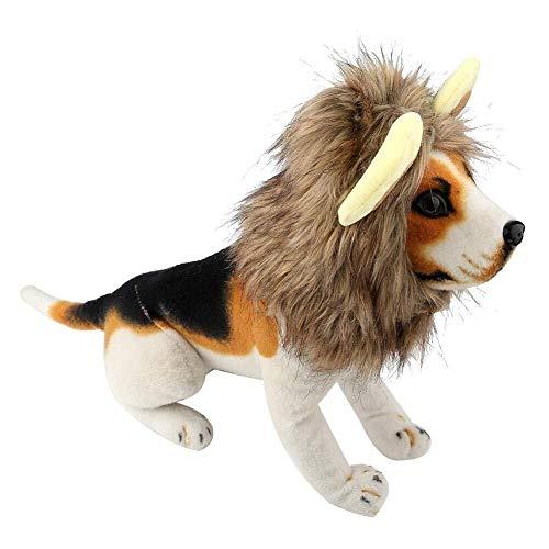 Jadeyuan Kostüm Hund Hut lustige Wintermütze niedlichen Löwen Stil Perücke Herbst wärmer Kopfschmuck for Haustier Hund Katze Halloween Thema Party Kostüm (M) Bekleidung (Size : Small)