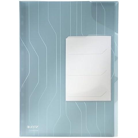 Leitz 47290035 Busta, Blu - Plastica Trasparente Inserti