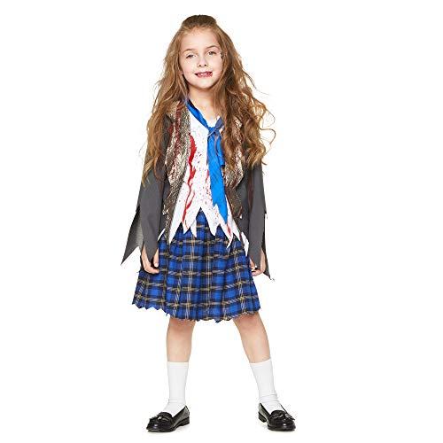 Karnival costumes- halloween zombie schoolgirl costume ragazze, multicolore, xl, 84571