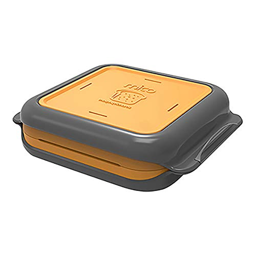 Morphy Richards 511647 Mico Mikrowelle Toasted Sandwich Maker, orange, Silicon,