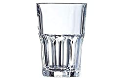 Arcoroc Fully Temppered Granity Glass Tumbler Set, Set of 6 Pcs, Transparent (350 ml High Ball)