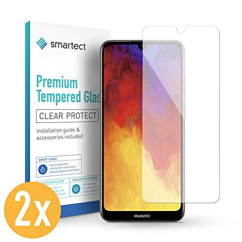 smartect Panzerglas für Huawei Y6 (2019) / Y6 Pro (2019) / Honor 8A [2 Stück] - Bildschirmschutz mit 9H Härte - Blasenfreie Schutzfolie - Anti Fingerprint Panzerglasfolie