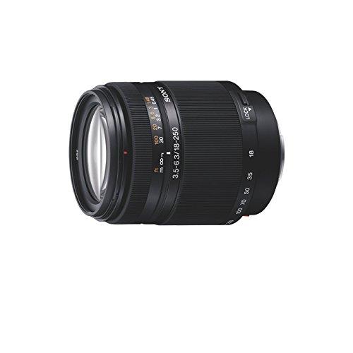 Sony SAL18250, Super-Zoom-Objektiv (18-250 mm, F3,5–6,3, A-Mount APS-C, geeignet für A77/A58 Serien) - Sony Objektiv Dt