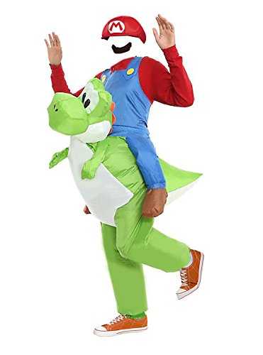 MJPARTY Erwachsene aufblasbar SUPER Klempner Riding Yoshi Fancy Kleid Kostüm