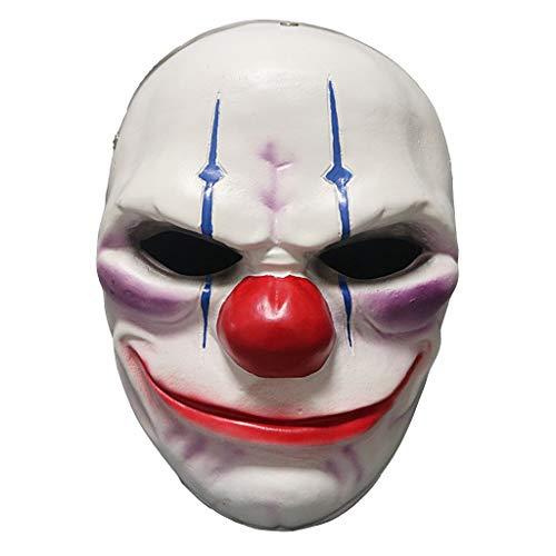 (Uus Halloween Horror Clown Maske, Kostüm Ball Performance Requisiten Gips Erwachsene Maske Höhe 24,5 cm)