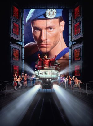 STREET FIGHTER – Jean Claude Van Damme – US Textless – Imported Movie Wall Poster Print – 30CM X 43CM Brand New