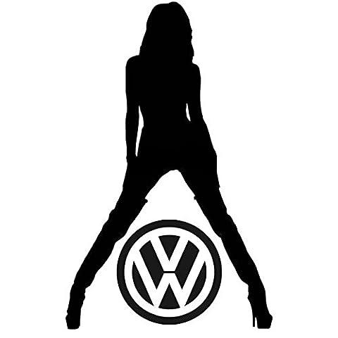 Crazy Donkey UK Sticker en vinyle motif pin up VW pour Golf Passat