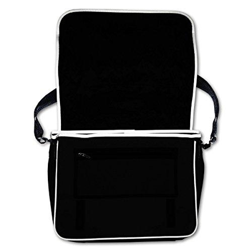 Schultasche Weimar Skyline Thüringen Bag Base® BagBase Retro Messenger 40x30x10cm schwarz/weiß - 2