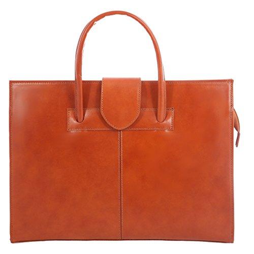 Chicca tutto moda borsa cartella donna a mano e tracolla portadocumenti, vera pelle 100% made in italy