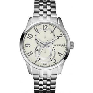 Guess W13100G2 – Reloj para mujeres, correa de acero inoxidable color plateado