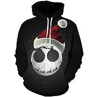 TING Sombrero de Navidad Estrellada Digital de la Impresion 3D Hooded Sweater par Modelos Headband Uniforme de béisbol,L