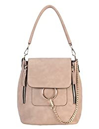 e30c4503852 Diophy Pu Leather Front Double Zipper 3 Ways Use Medium Chic Handbag Wy-6532
