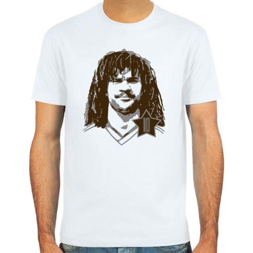 SpielRaum T-Shirt Ruud Gullit ::: Farbauswahl: skyblue, sand oder weiß ::: Größen: S-XXL ::: Fußball-Kult