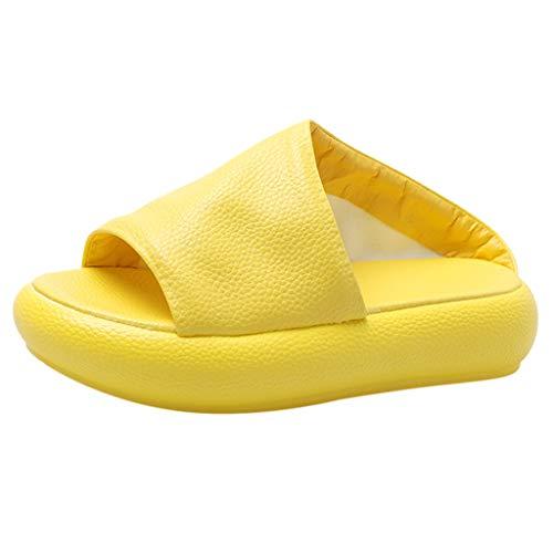 Inawayls Einfarbig Hausschuhe High Qualität Soft Indoor-Haus Dusche Badeschuhe Schlappen Pantoffeln Gartenschuhe Home Slippers Damen Outdoor Schuhe Sandaeln