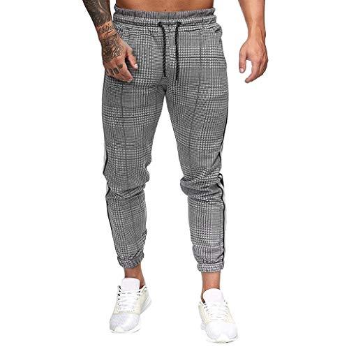 Nadelstreifen Schlanke Herren Hosen KaloryWee Frühling 2020 Modisch Sporthosen Fitnesshose Lang Pants Slim Fit Rettichhose Hosenfalten Mehrfachauswahl