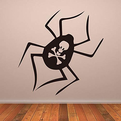 yiyitop Tödliche Spinne Gruselige Wandaufkleber für Wohnzimmer Halloween Abnehmbare Wandtattoos Urlaub Familie Wohnkultur Vinyl Poster 57 * 57 cm