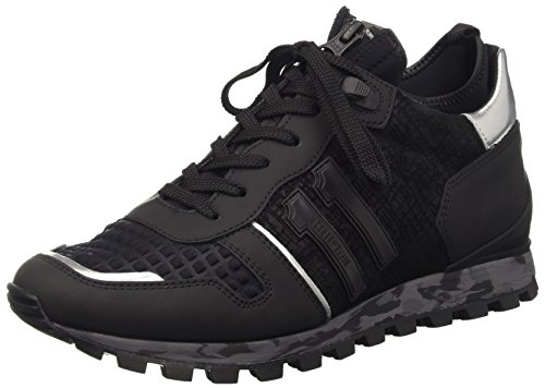 Bikkembergs Numb-Er 722 Mid Shoe M Leather/Lycra, Scarpe Low-Top Uomo, Nero, 43 EU