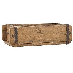 Ib Laursen UNIKA Aufbewahrungsbox aus Holz 31 cm Vintage Allzweckkiste Ordnungshelfer Ordnungsbox Holzkiste Ziegelform…