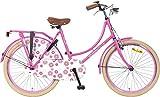 24 Zoll Popal Omafiets OM24 Mädchen Holland Fahrrad, Farbe:rosa