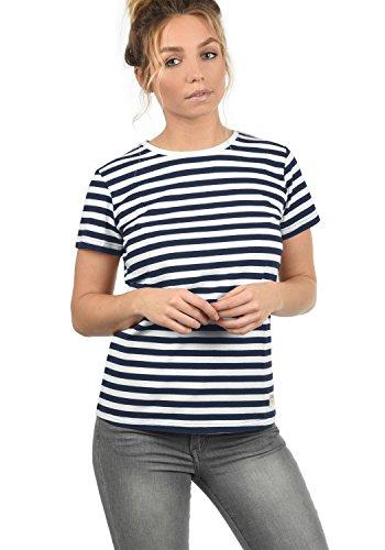 DESIRES Maya Damen T-Shirt Kurzarm Streifenshirt Shirt Mit Rundhalsausschnitt, Größe:S, Farbe:Insignia Blue (1991)