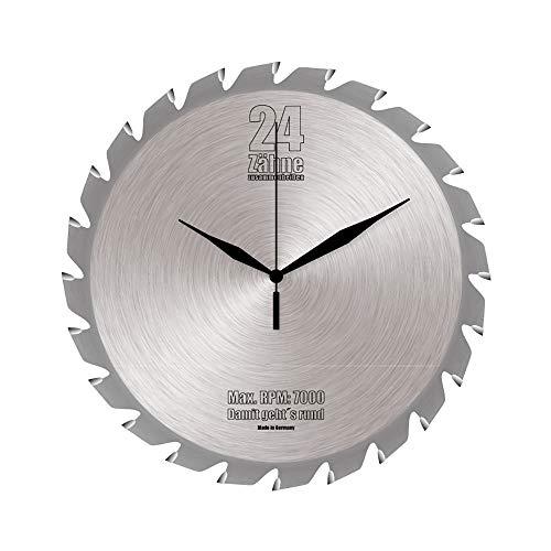Preis am Stiel Wanduhr \'\'Sägeblatt\'\' | Werkstattuhr | Kreissägeblatt-Uhr | Wohnaccessoire | Geschenkidee für Männer | für Wohnzimmer | für die Wand | Dekoration | Stylisch | Küchenuhr | Uhr