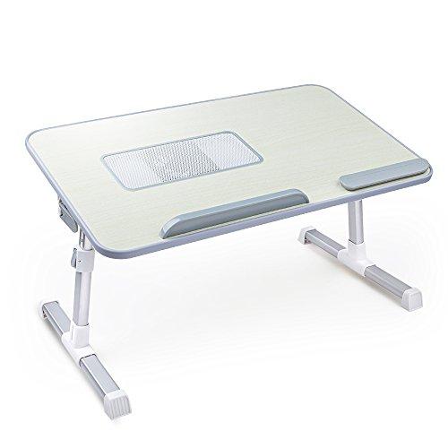Steady Fold Laptop Schreibtisch mit Höhe und Winkel verstellbar, Student Notebook Bett Tisch mit USB Cooling Lüfter und Anti-Slid Bar