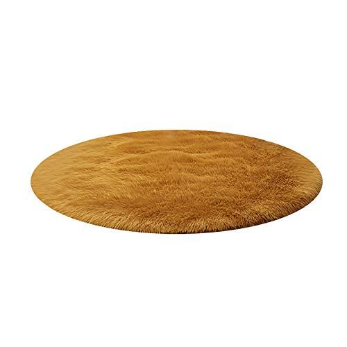 Unbekannt YXX-Teppich Anti-Rutsch-Flauschige Schreibtisch-Computer-Stuhl-runde Teppiche Pad-Fußmatte, maschinenwaschbar, antistatisch, kann anpassbar (größe : 90cm) (Flauschige Stuhl Schreibtisch)