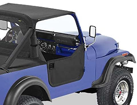 Kit demi portes en toile, couleur: Black Denim, Jeep CJ7, Wrangler YJ