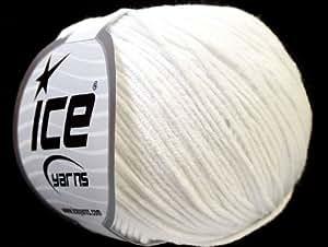 Laine pour tricot - Alara - 4 mm / US 6 - White - Lot de 8 pelotes - fnt2-27350