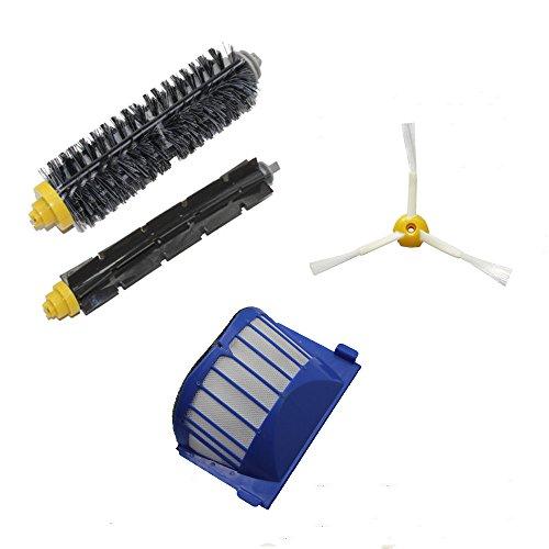 Cambio per iRobot 1 Aero Vac Filter & 1 pennelli di setola e 1 Flexible Beater Brush & 1*3 spazzola laterale armati kit pack Rifornimento Roomba 600 Series (620.630.650.660) Vacuum Robot Nuovo